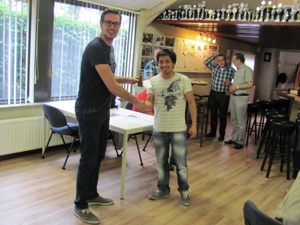 de winnaar van de damnacht  Matthias de Kruijf